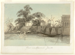 'Ghaut near Chinsurah.  June 1828'